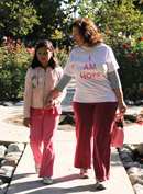 Woman and daughter with an I am Hope T-shirt