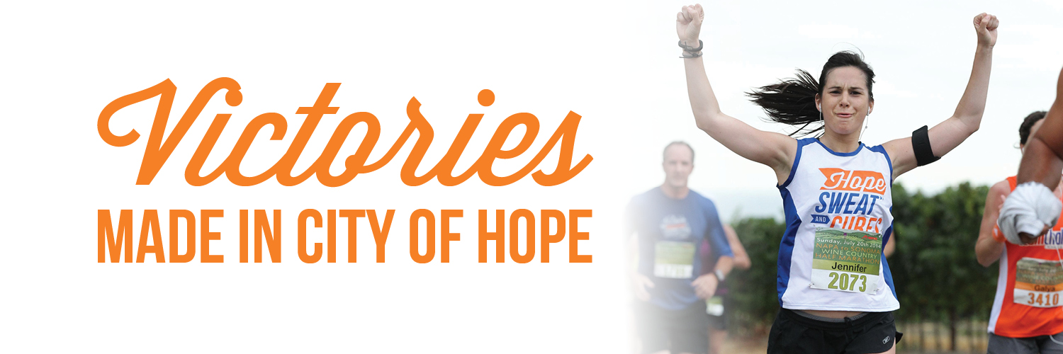 Hope Sweat and Cures - Victories made in City of Hope